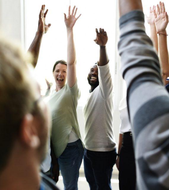 Teamwork Cooperation Hands Up Agreement